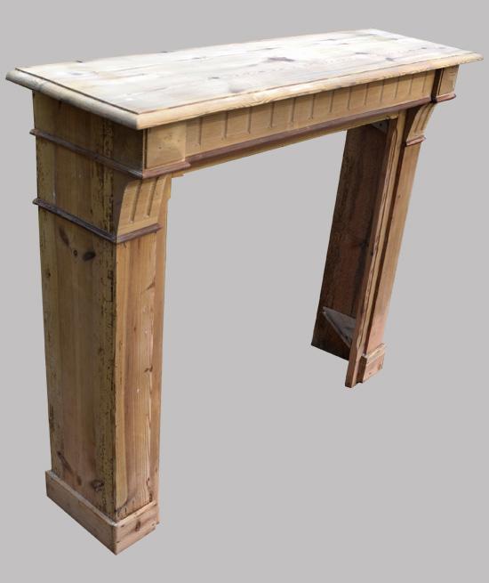 vieille chemin e ancienne en bois brut sabl. Black Bedroom Furniture Sets. Home Design Ideas