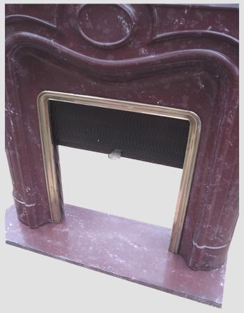 tr s belle devanture de chemin e de style art deco de forme arrondie. Black Bedroom Furniture Sets. Home Design Ideas