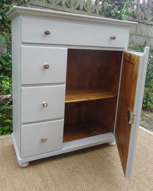 Farinier ancien meuble de metier vers 1940 art populaire for Serrure meuble ancien