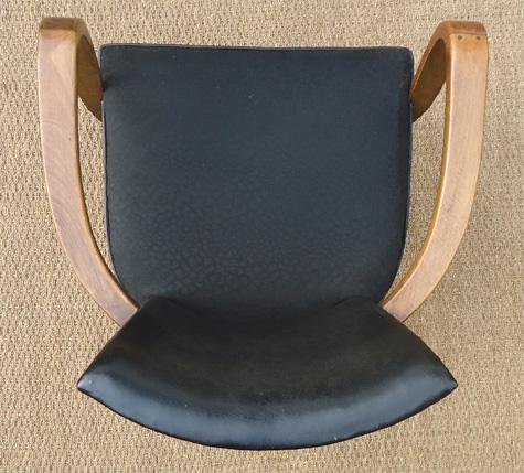 joli petit fauteui bridge garniture de tissu noir. Black Bedroom Furniture Sets. Home Design Ideas