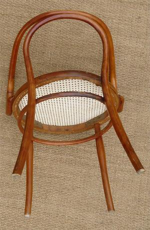 fauteuil de bureau ancien en bois cintr. Black Bedroom Furniture Sets. Home Design Ideas