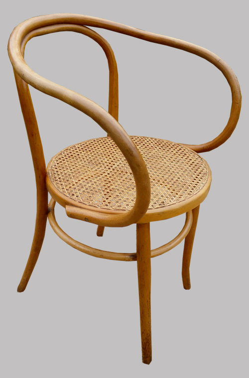 fauteuil de bureau ancien en hetre cintr. Black Bedroom Furniture Sets. Home Design Ideas