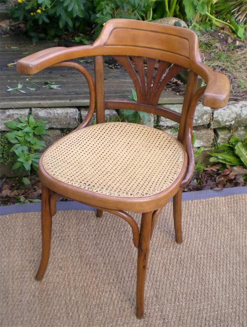 beau fauteuil de bureau jj kohn autriche. Black Bedroom Furniture Sets. Home Design Ideas