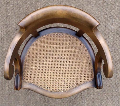 beau fauteuil ancien de style louis philippe en noyer assise cann e. Black Bedroom Furniture Sets. Home Design Ideas