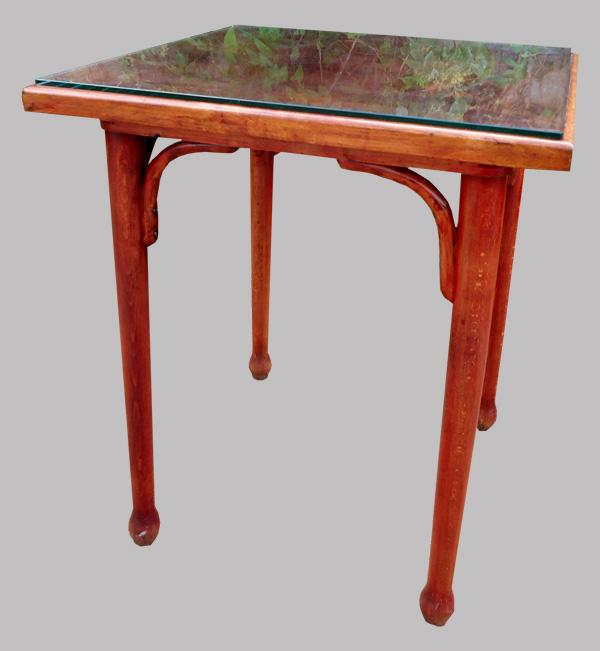 Fischel Table De Bistrot Ancienne En Bois Courb Plateau Carr