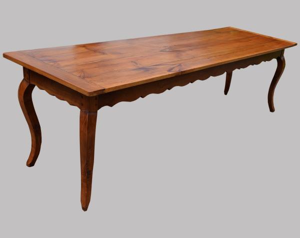 grande table de ferme ancienne xviii me si cle avec ceinture mouvement e. Black Bedroom Furniture Sets. Home Design Ideas