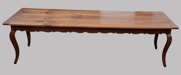 Grande Table De Ferme Ancienne Xviii Me Si Cle Avec Ceinture Mouvement E