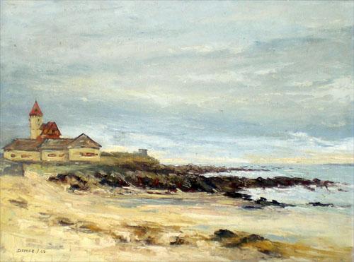 huile marine du peintre cote bretonne grande plage de quiberon. Black Bedroom Furniture Sets. Home Design Ideas