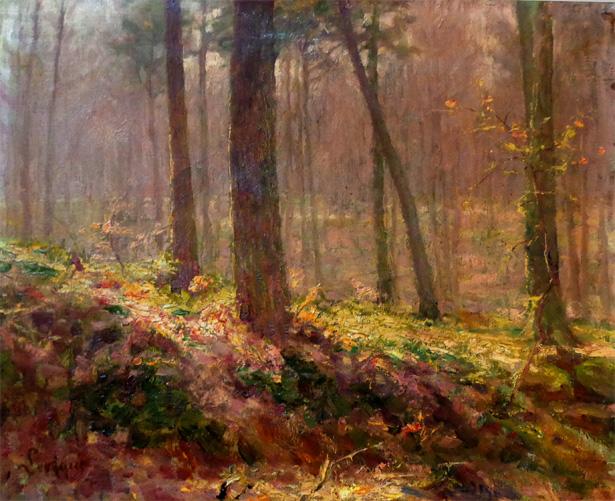 LEVEQUE Auguste peintre belge réaliste et symboliste