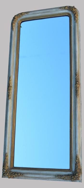 Long et troit miroir ancien spiegel for Miroir long bois