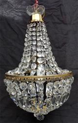 Belles lampes anciennes de tous styles vendues - Lustre a pampilles ancien vendre ...