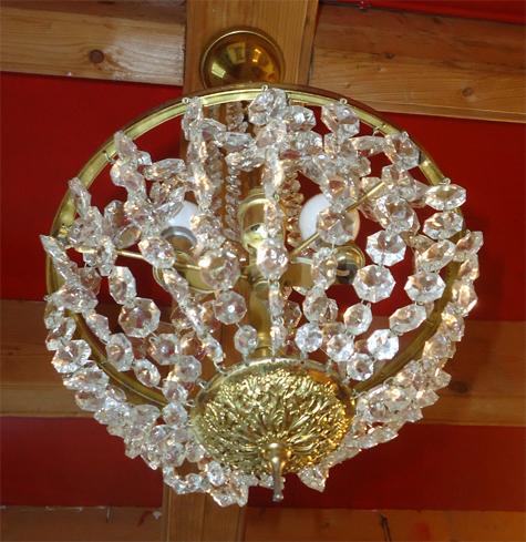 Lustre cristal montgolfière