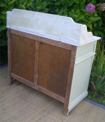 joli meuble d 39 appui ancien meuble de toilette en bois peint. Black Bedroom Furniture Sets. Home Design Ideas
