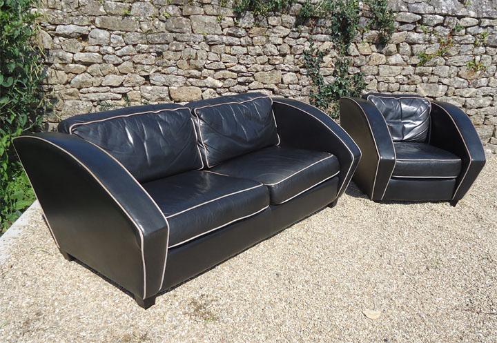 ensemble canap et fauteuil de l 39 diteur am ricain thayer coggin et milo baughman designer. Black Bedroom Furniture Sets. Home Design Ideas