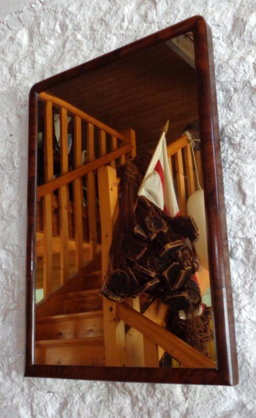 Miroir a fixer au mur maison design - Accrocher miroir au mur ...
