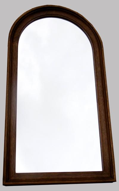 Petit miroir ancien encadrement en ch ne clair for Miroir en long