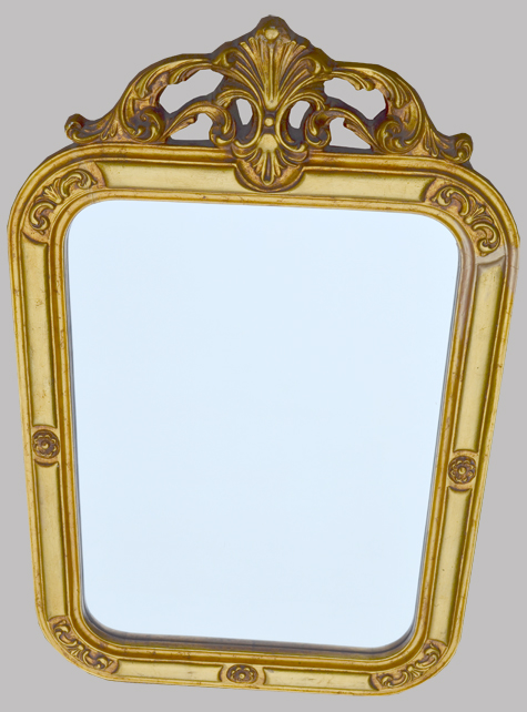Miroir rocaille encadrement dor for Encadrement miroir