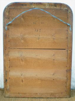 Miroir ancien noir et dor d 39 poque louis philippe for Attache miroir