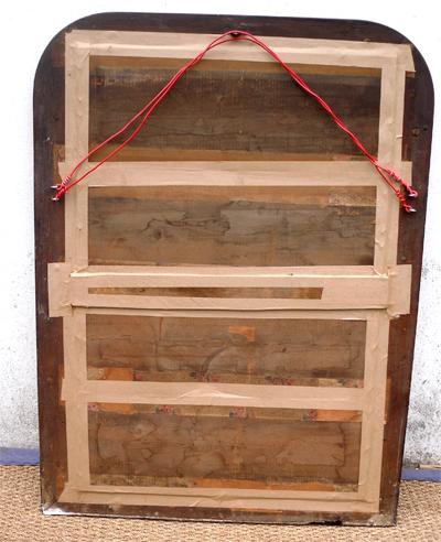 miroir ancien d cor de rang de perles. Black Bedroom Furniture Sets. Home Design Ideas