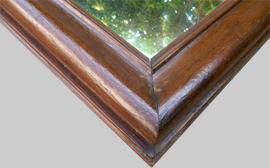 Beau miroir ancien encadrement bois for Miroir moulure