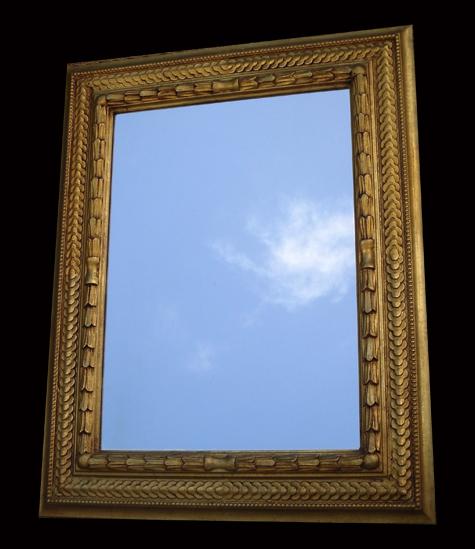 Miroir ancien a encadrement dor de style moderne for Miroir style ancien