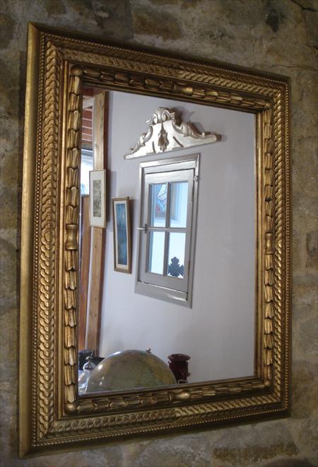 Miroir ancien a encadrement dor de style moderne for Boutique miroir