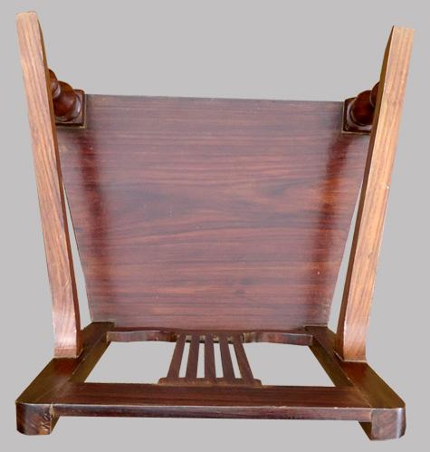 joli fauteuil ancien en palissandre aux parfums de l 39 inde. Black Bedroom Furniture Sets. Home Design Ideas