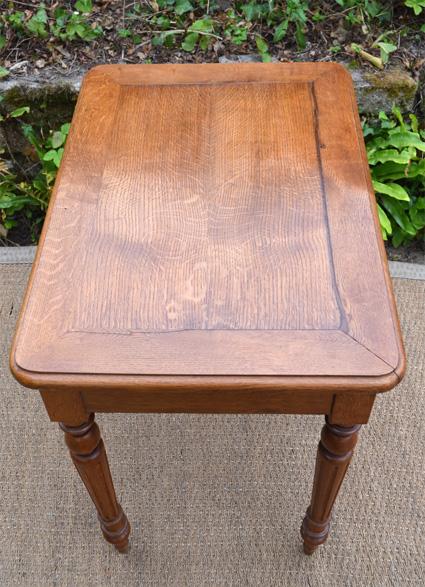 Petite table d 39 appont en bois cir pour poser ordinateur - Petite table pour ordinateur portable ...