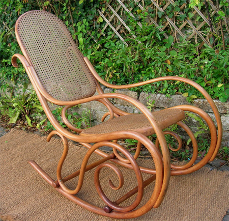 fauteuil rocking chair hofmann art deco thonet. Black Bedroom Furniture Sets. Home Design Ideas