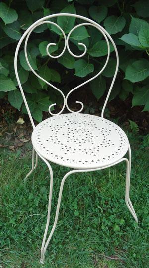chaises de jardin en fer anciennes. Black Bedroom Furniture Sets. Home Design Ideas