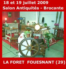 Salon antiquaires antiquit s brocante la foret fouesnant 2009 ev nement en pays fouesnantais - Salon antiquites brocante ...