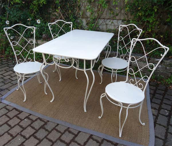 Table De Jardin 4 Chaises. Cheap Ensemble Salon De Jardin En Teck ...
