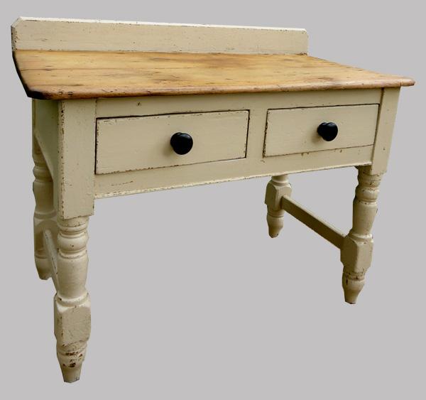 Table ancienne en forme de billot beau meuble de cuisine - Table de cuisine ancienne ...