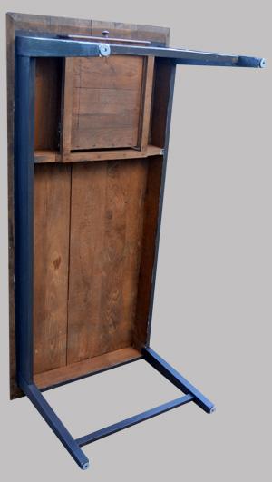 table de ferme rectangulaire en chataignier. Black Bedroom Furniture Sets. Home Design Ideas