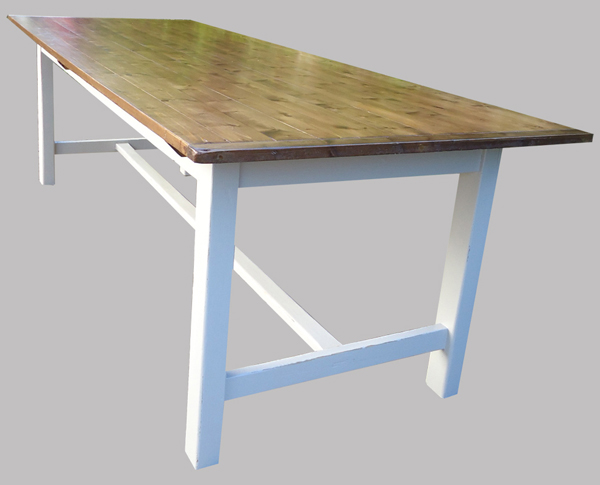 Grande table de salle manger en bois for Pietement de table en bois