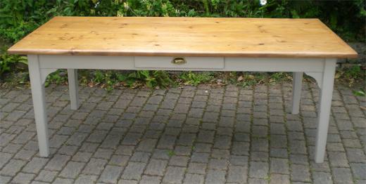 belle longue table ancienne rectangulaire de campagne en orme et plateau en sapin. Black Bedroom Furniture Sets. Home Design Ideas