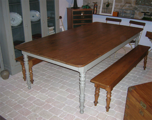 Help comment customiser cette vieille table - Table ancienne repeinte ...