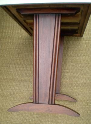authentique ancienne table de bistrot avec dessus en formica. Black Bedroom Furniture Sets. Home Design Ideas