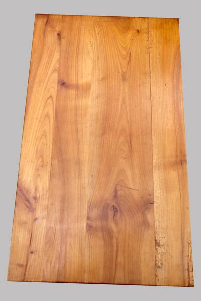 Petite table console en bois fruitier clair -> Plateau Merisier