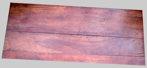 belle table rustique rectangulaire avec un beau plateau en merisier -> Plateau Merisier