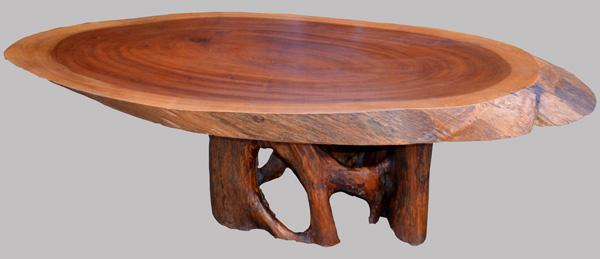 table basse de salon en acajou massif avec son aubier. Black Bedroom Furniture Sets. Home Design Ideas