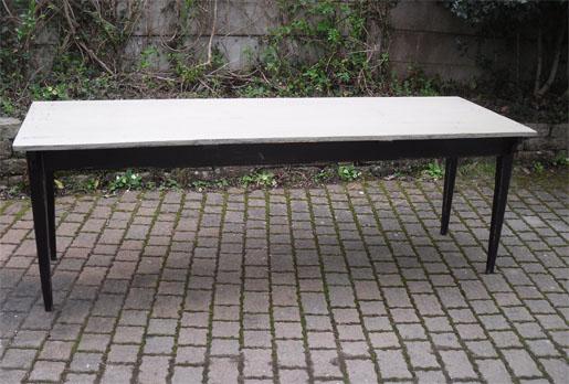 tres belle et grande table rectangulaire en bois peint - Grande Table