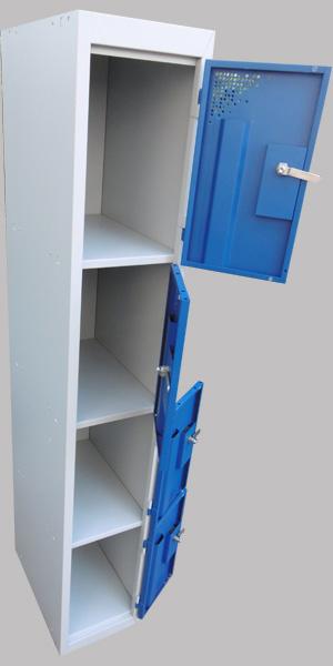 Armoire m tallique vestiaire industriel 1 colonne 4 cases - Ancien casier metallique ...